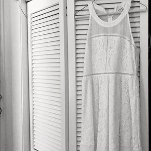 Francesca's white lace dress